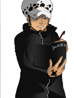 Trafalgar Law with a Death Note by MadBax