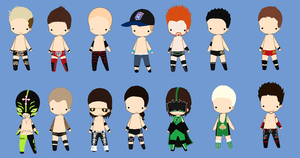 WWE Chibis by PaddysDemon