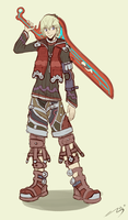 I drew a Shulk! by MajMajor