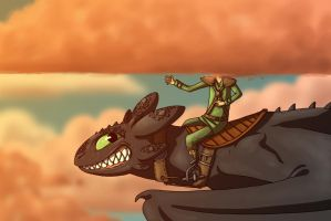 HTTYD - Head In The Clouds by Malliya