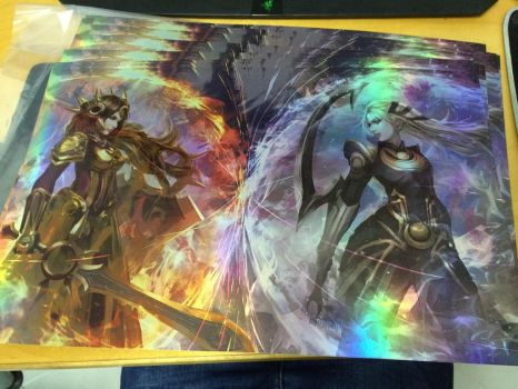 Sun and Moon FOIL prints for sales by CGlas