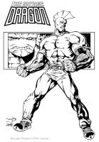 Savage Dragon Inked by Cadre