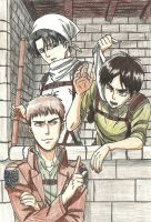 Eren, Jean and Levi by HetaliaAmore