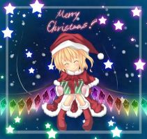 Merry Christmas from Flandre and I XD by Mitsu-Eifie
