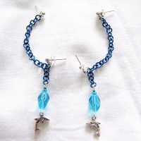 Blue Dolphin Earrings by merigreenleaf