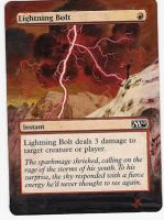 Magic Card Alteration: Lightning Bolt by Ondal-the-Fool