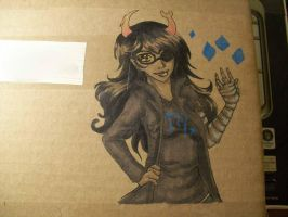 Vriska Boxart by Lambentworld