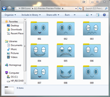 Chao Set 1 of 3 Neutral Computer Folder Icons by cloudyrei