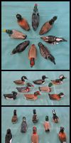 3-Inch Waterfowl Miniatures by Kimi-Parks
