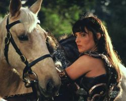 Xena And Her Horsey Argo by queenofcats98