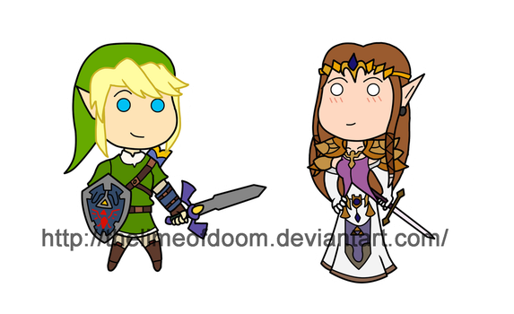 Zelda and Link by thelimeofdoom