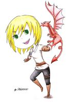 B-day gift - Wales with her dragon by Kei2000