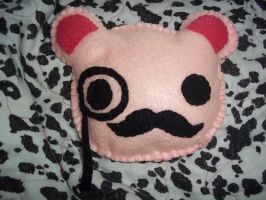 Monicle Mustache Bear Plushie by SuperRainbowOctopus