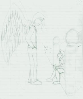 Are you-? - Rough Sketch by Kira-chan