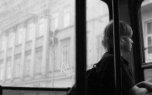 Girl on the bus by Petko