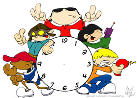 Kids Next Door Clock Design by YdocNameloc