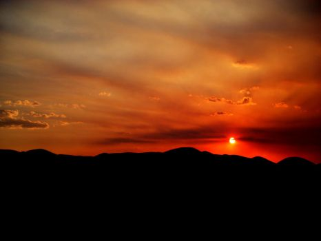 Sunset in Afghanistan by Lariasta