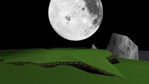 MMD Hill Top Moon Stage by MMD3DCG