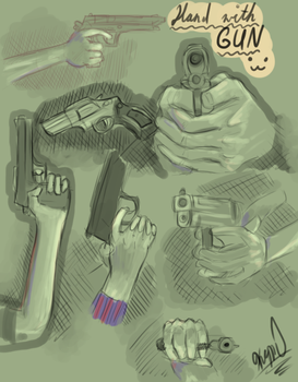 Hand with guns by Kimulepolyglotte