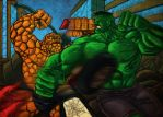 Hulk vs Thing  2 by Dreee