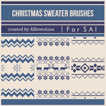 [For SAI]  Christmas Sweater Brushes by ASlovesLisa