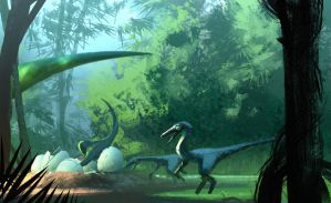 Dinosaur Hatchery by Hideyoshi