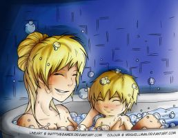 Collab: Bath Time by MrsHellman