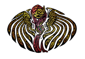 Fluttershy stained glass tribal tattoo by Skrayle