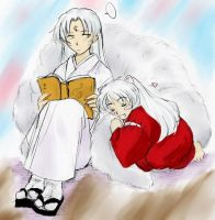 Inuyasha--Brothers -colored- by majochan