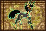 Egyptian Umbreon pony by raptor007