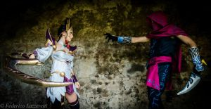Diana and Malzahar cosplay - Night approaches ! by Aoi-Berry
