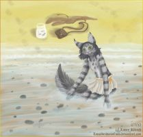 Cat and fish by LunozvezdnaiaCoon