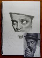 Bruno Mars WIP1 by EmilyHitchcock