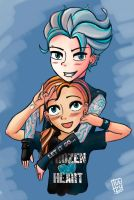 Punk princess - Elsa and Anna by pHuezo