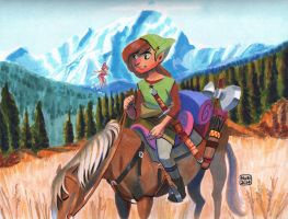 Link and Epona by ActionHankBeard
