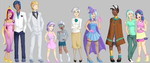 My Little Humans lineup 2 by Emberfan11
