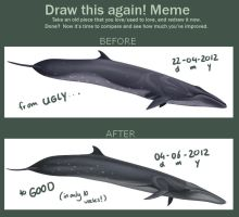 Draw this again! meme - Sei whale by namu-the-orca