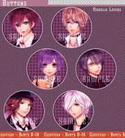 Diabolik Lovers buttons by RukaVermillion15