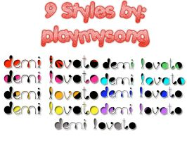 9 Styles by playmysong