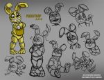 FNAF - Plushtrap Sketches 01 - 8-27-15 by Mattartist25