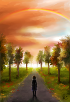 Falltime rainbow by Oviot