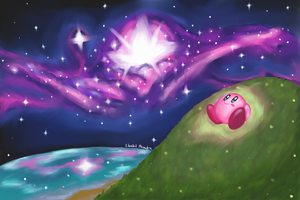 Stargazing Kirby by ShadedPenumbra