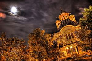 Church at Night HDR by HDRenesys