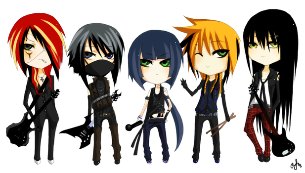 JROCK Chibis - Rebellion by akirakirai