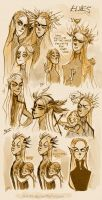 More elvish sketches by Eis-Blasich