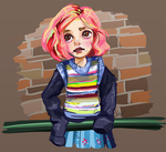The girl with the coloured hair by Finaz