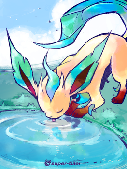 Thirsty Leafeon by super-tuler