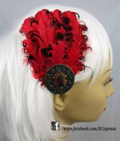 Feathers and Clockwork Hair Fascinator by LittleShopOfLostArts