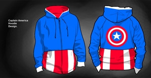 Captain America Hoodie Design by Biscuits-and-Jam