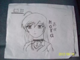 Moka Akashiya anime/manga drawing by ZairoNishijima